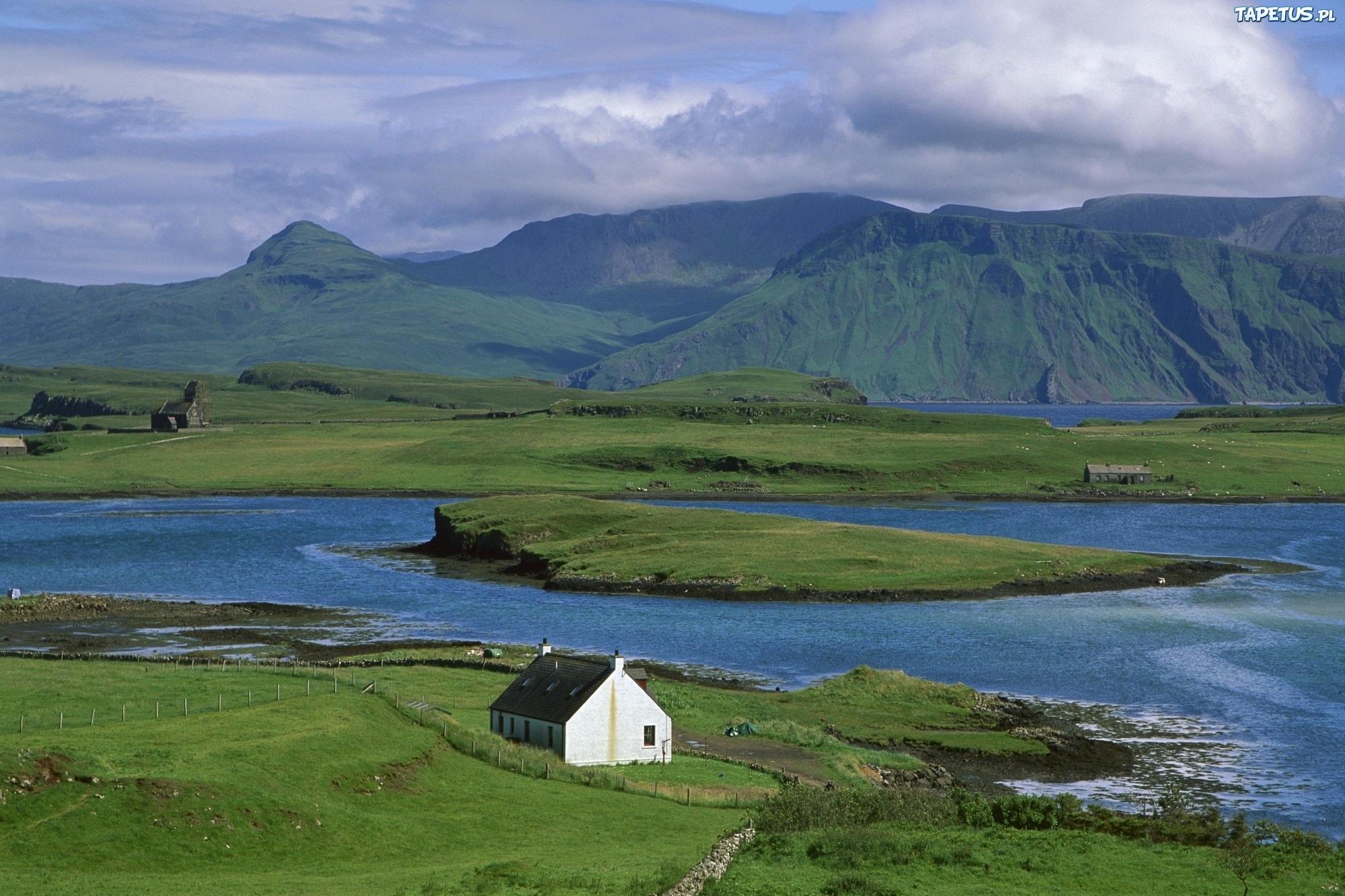 Łąki, Domek, Góry, Wybrzeże, Szkocja