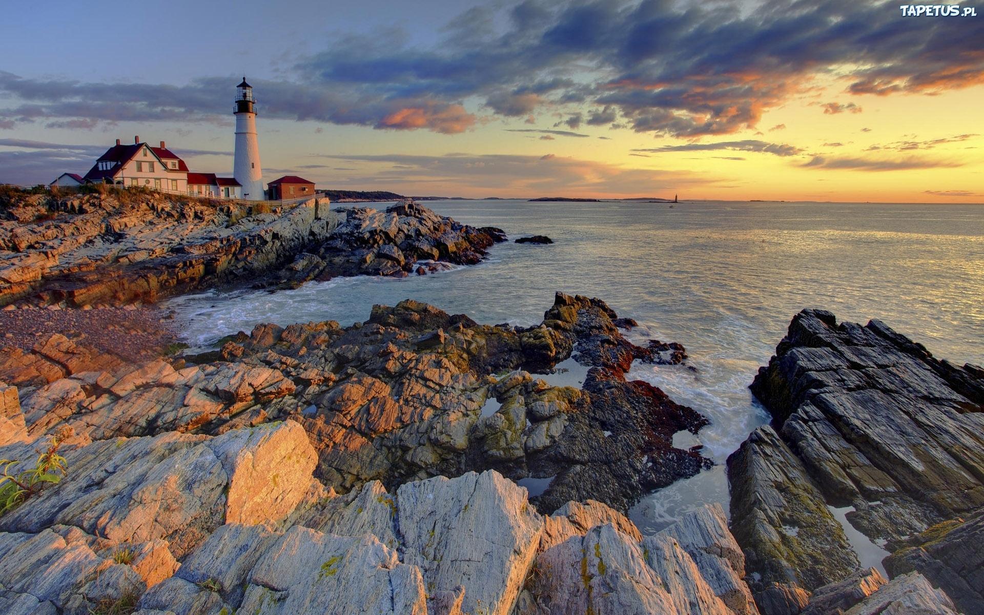 природа маяк море скалы  № 2238519 загрузить