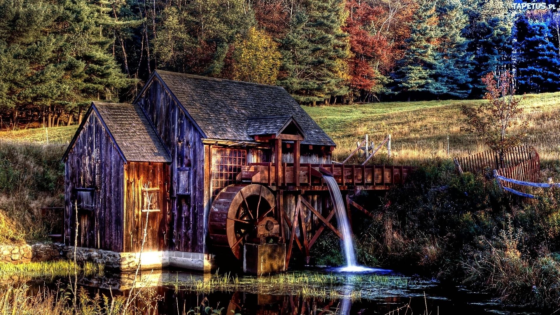Мельница река мостик  № 2785758  скачать