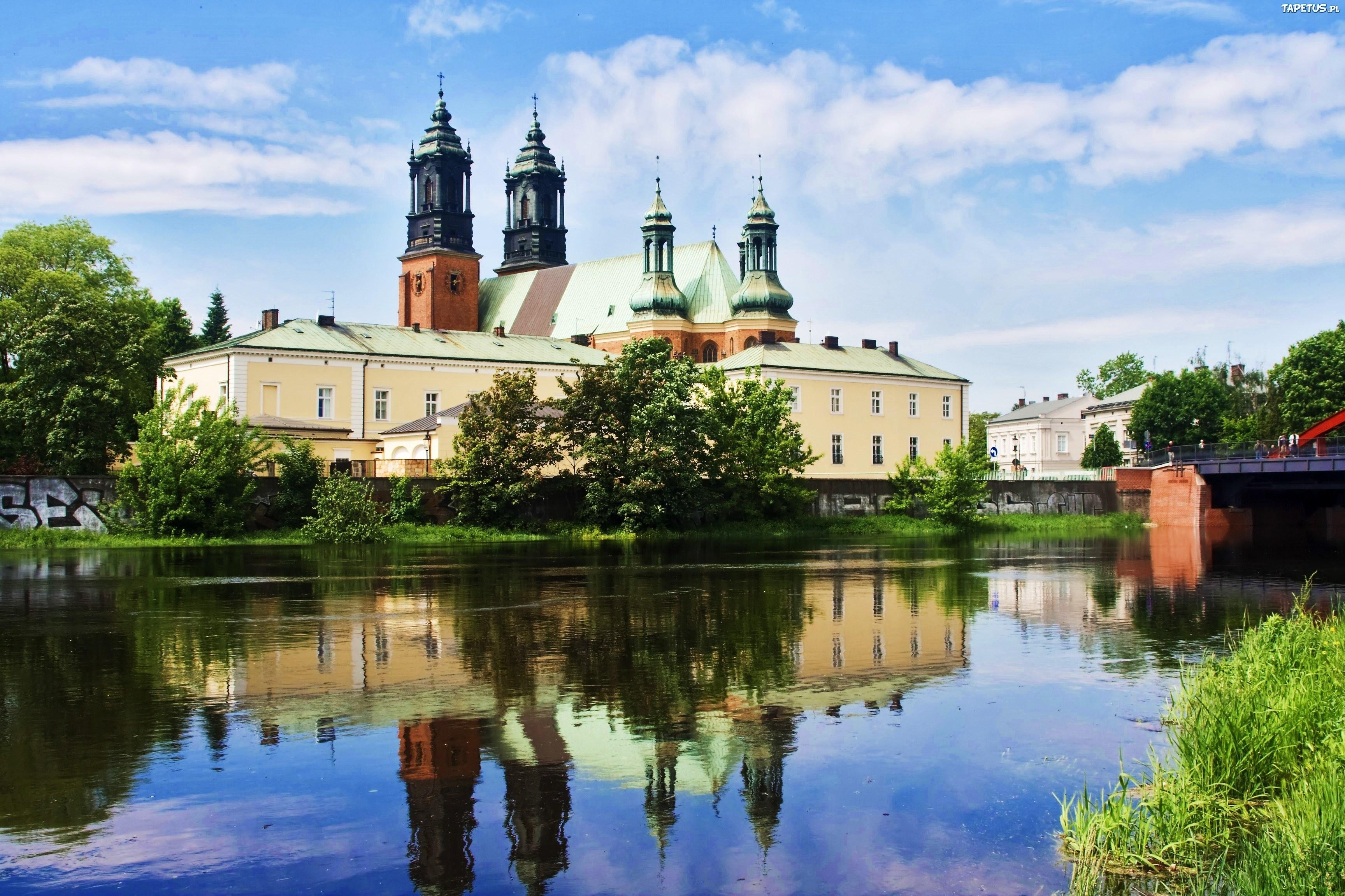 Tapeta Katedra, Warta, Poznań