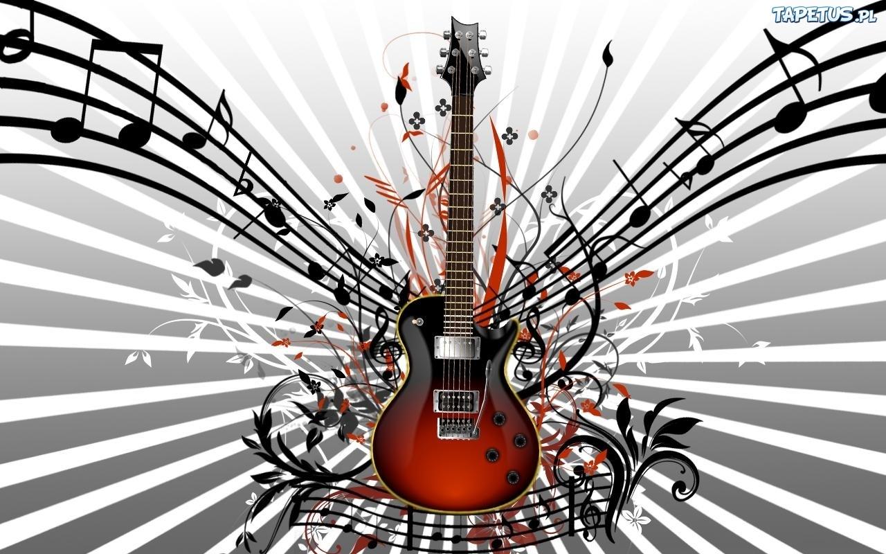 Tapeta Gitara, Nuty, Promienie