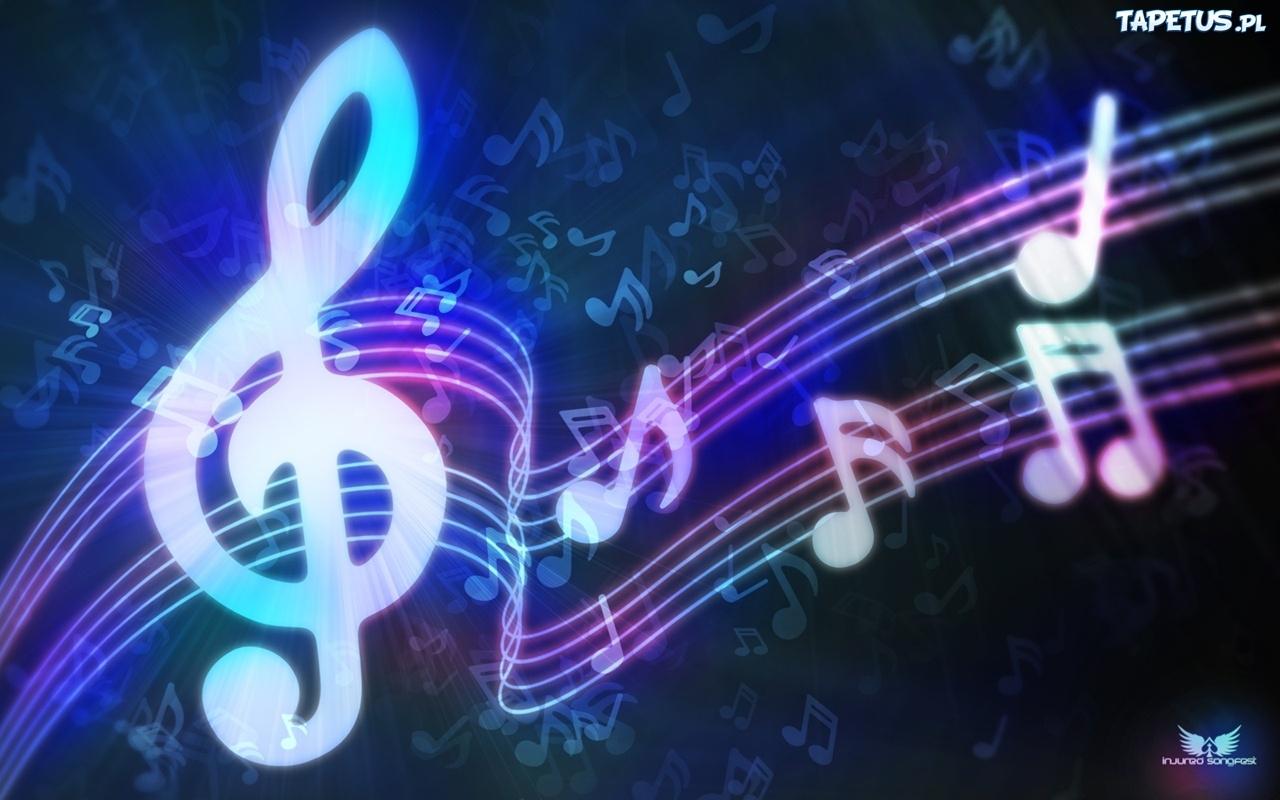Tapeta Nuty, Klucz Wiolinowy, Muzyka