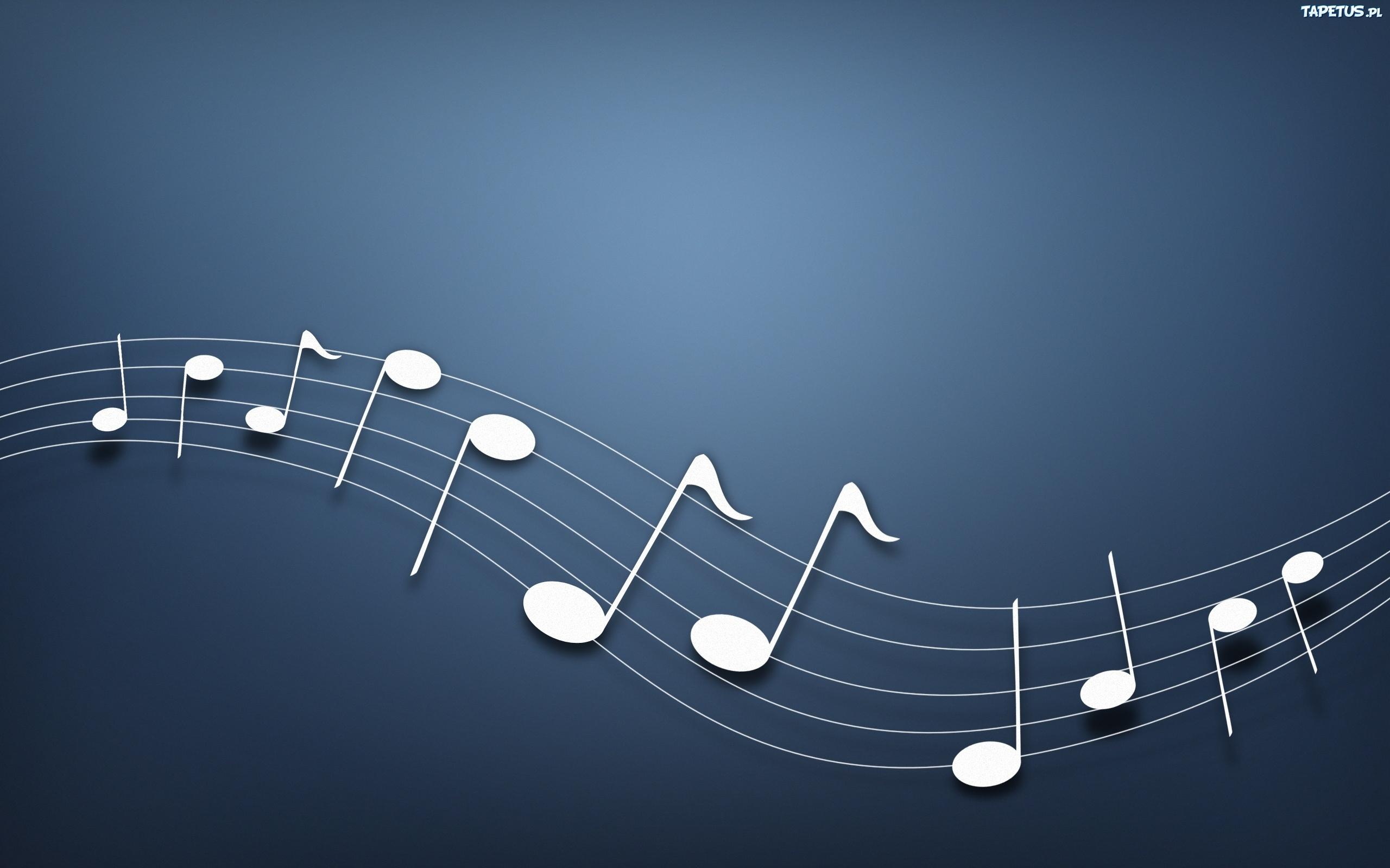 Tapeta Nuty, Muzyka