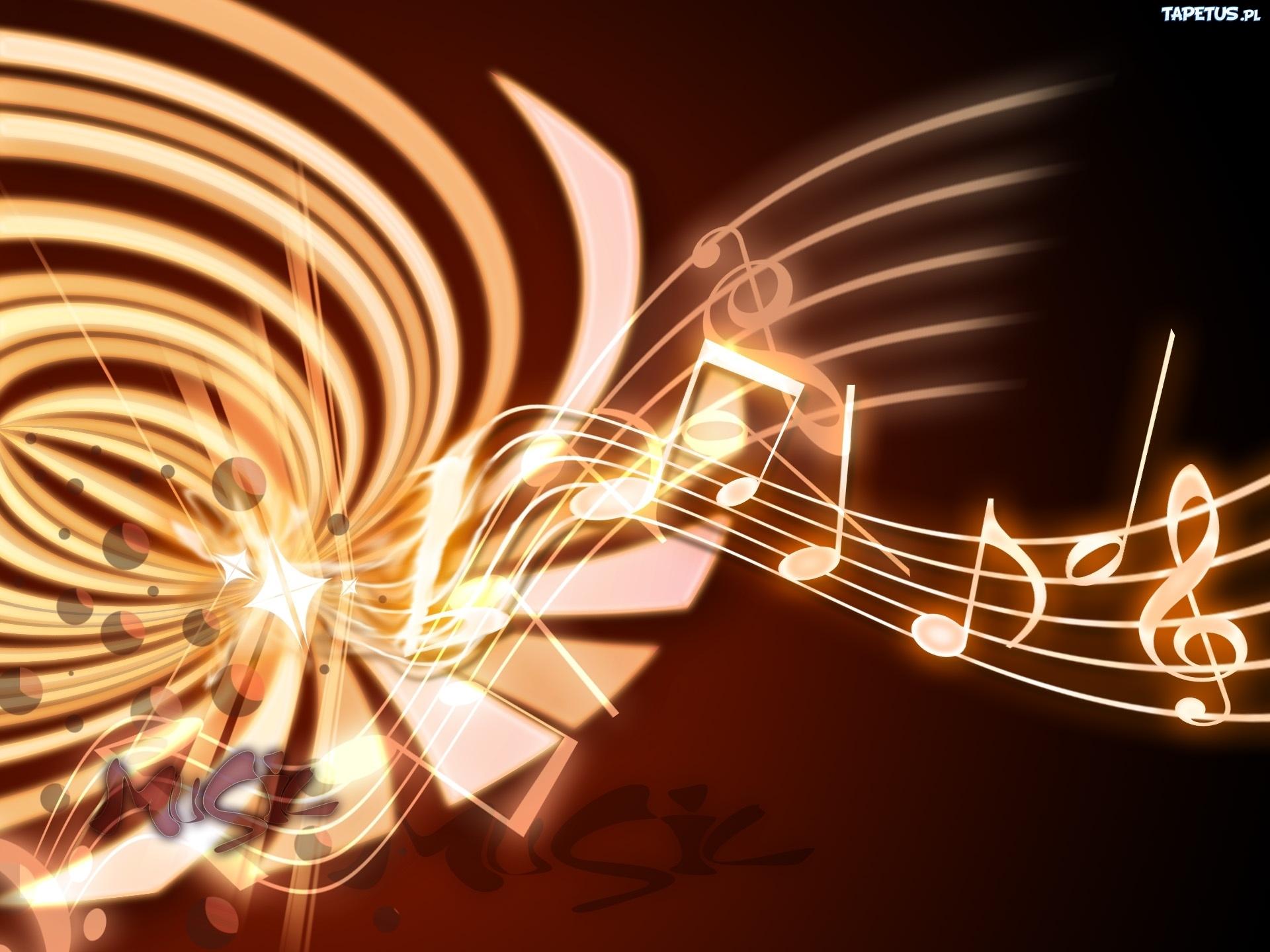 Tapeta Pięciolinia, Nuty, Muzyka