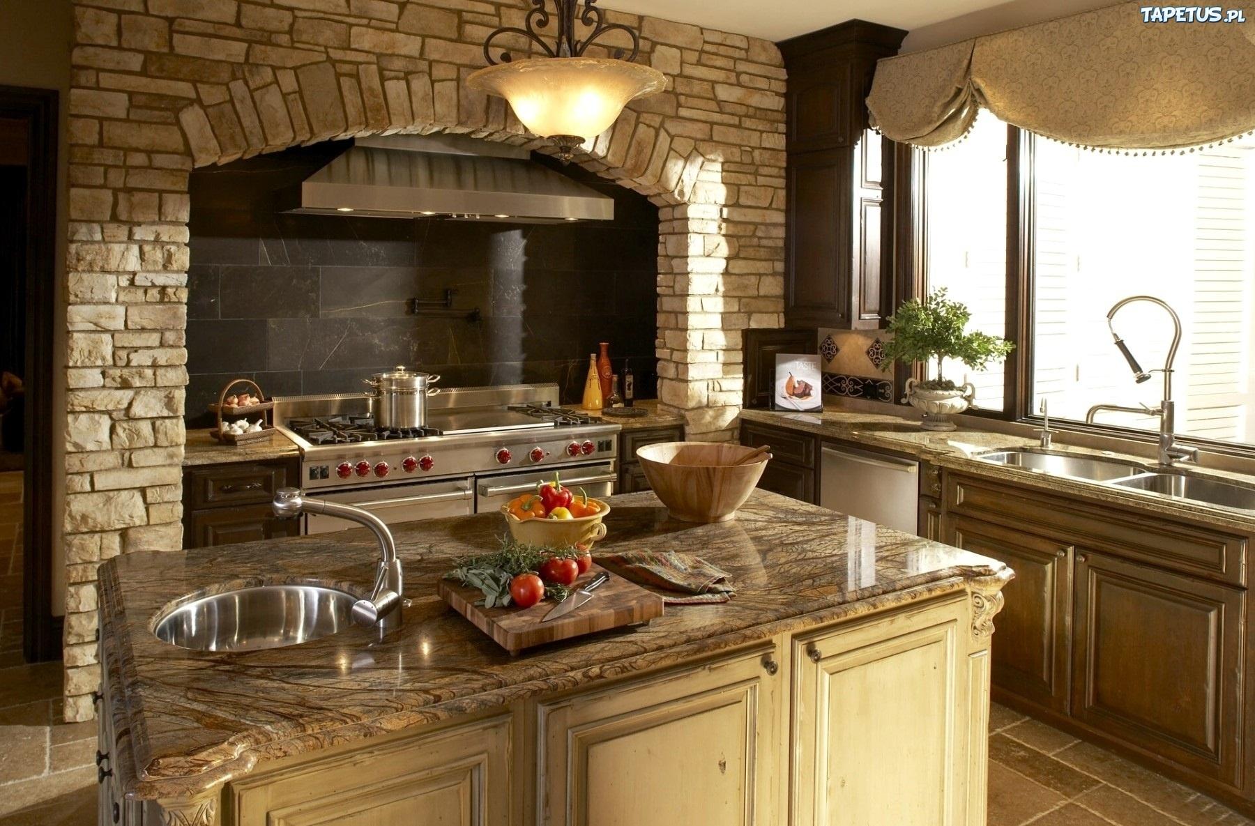 Wnętrze, Domu, Kuchnia, Meble, Wyposażenie