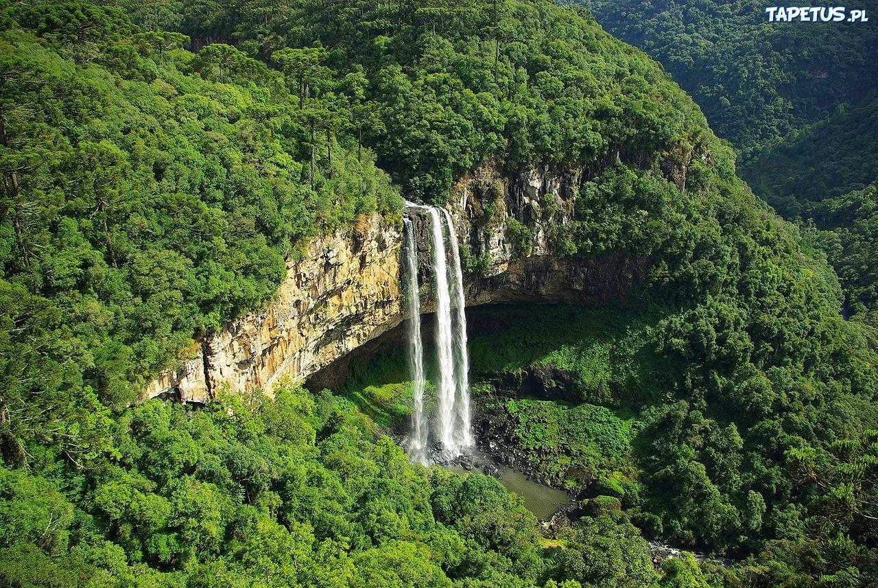wodospad zalesione g 243 ry brazylia