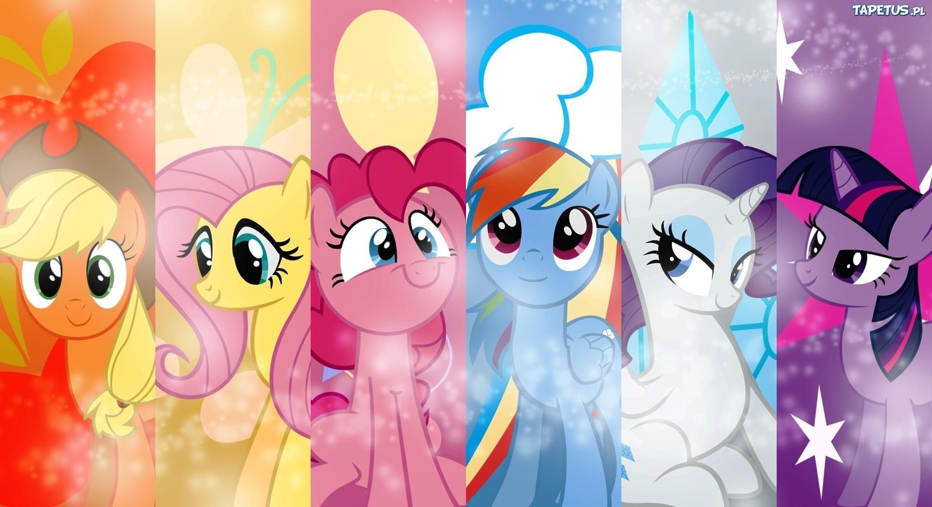 Tapeta My Little Pony  Przyja     To Magia  Kucyki