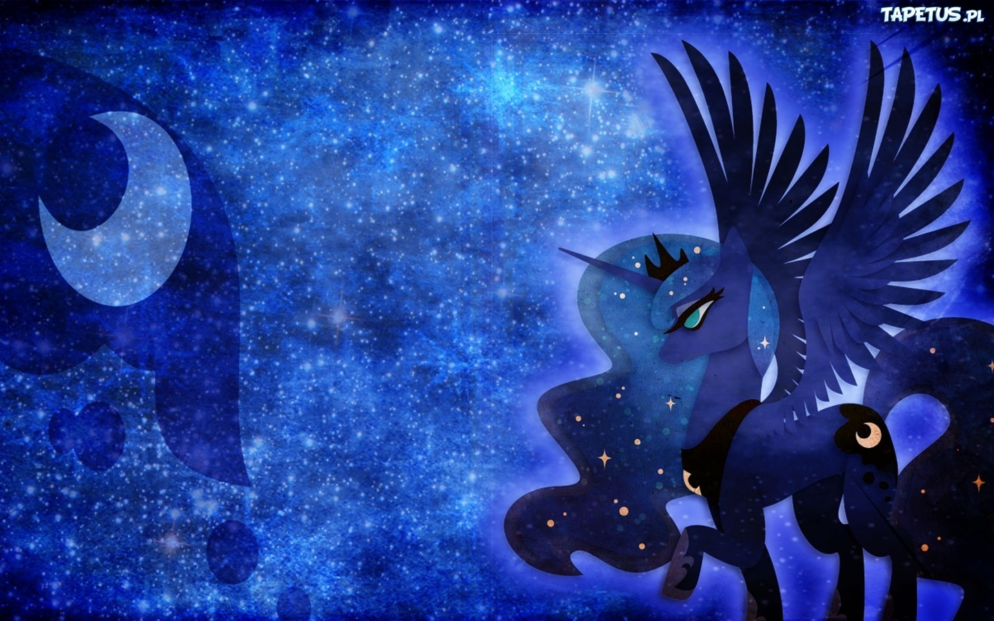 Tapeta My Little Pony  Przyja     To Magia  Luna