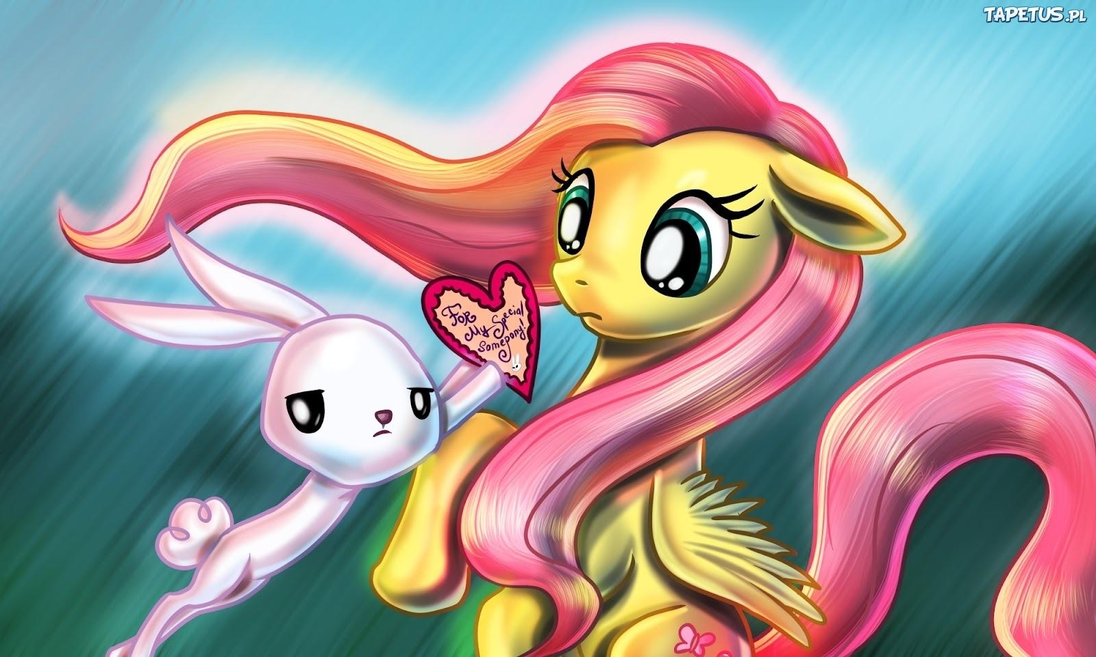Tapeta My Little Pony Przyja     To Magia  Flutershy  Angel