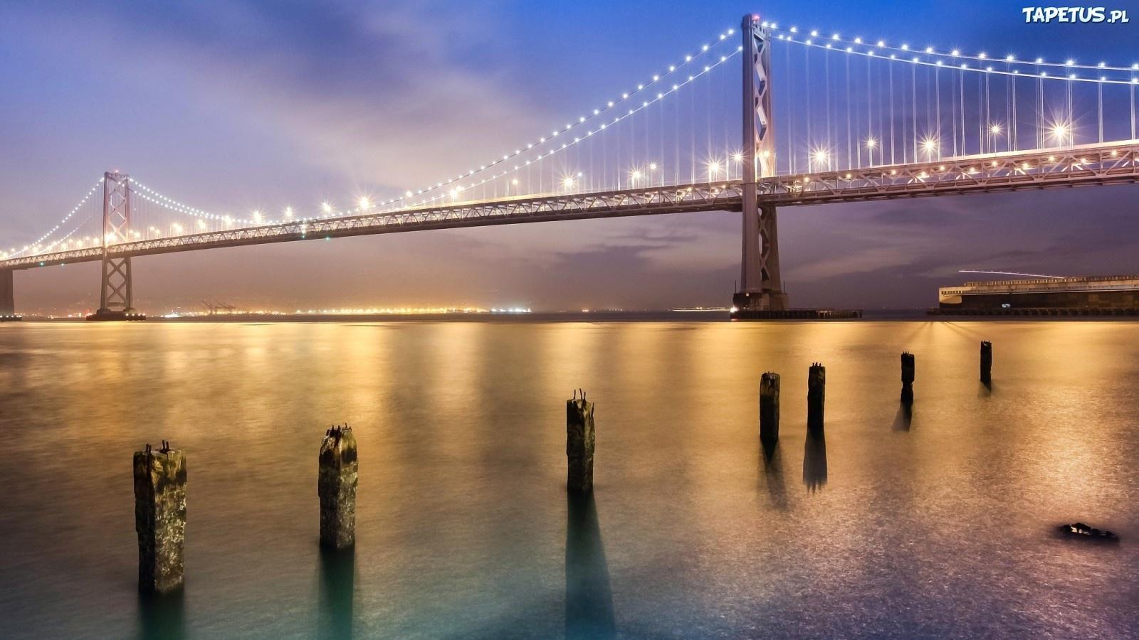 Мост огни ночь  № 3716487 без смс