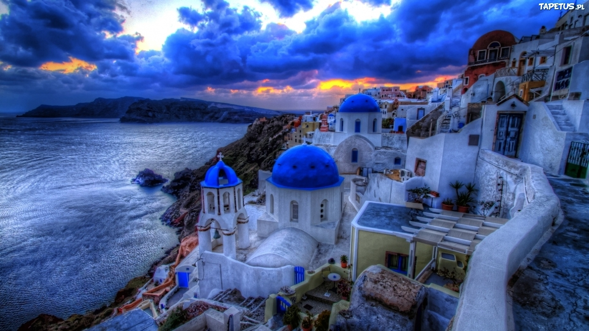 Mykonos Greece In High Resolution Hd Desktop Wallpaper: Santorini, Grecja