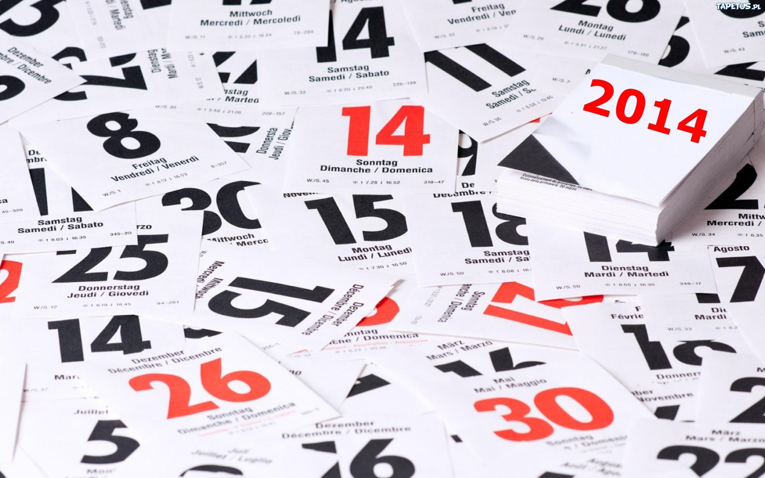 Обои праздник, новый год, календарь, листки картинки на рабочий стол, раздел новый год - скачать.