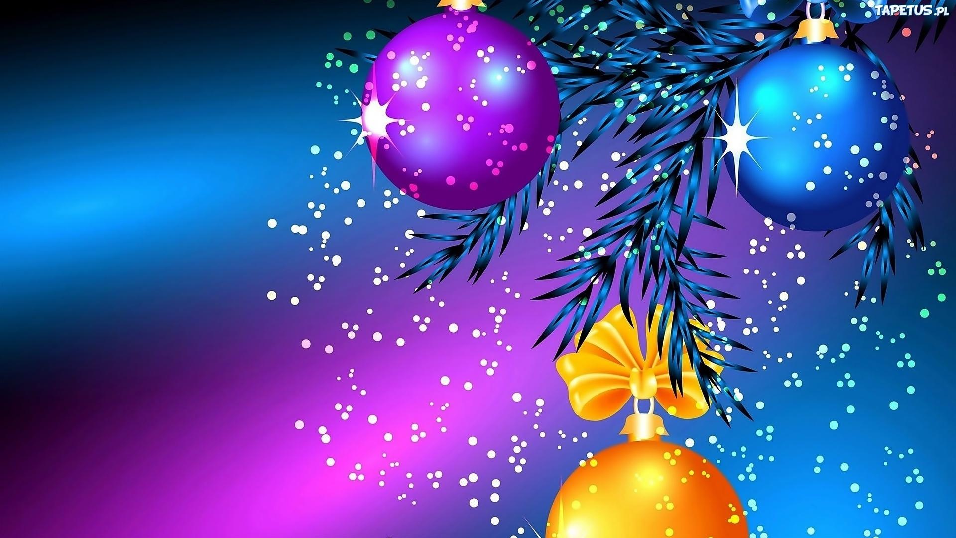 Bo e narodzenie bombki 3d for Sfondi natalizi 1920x1080