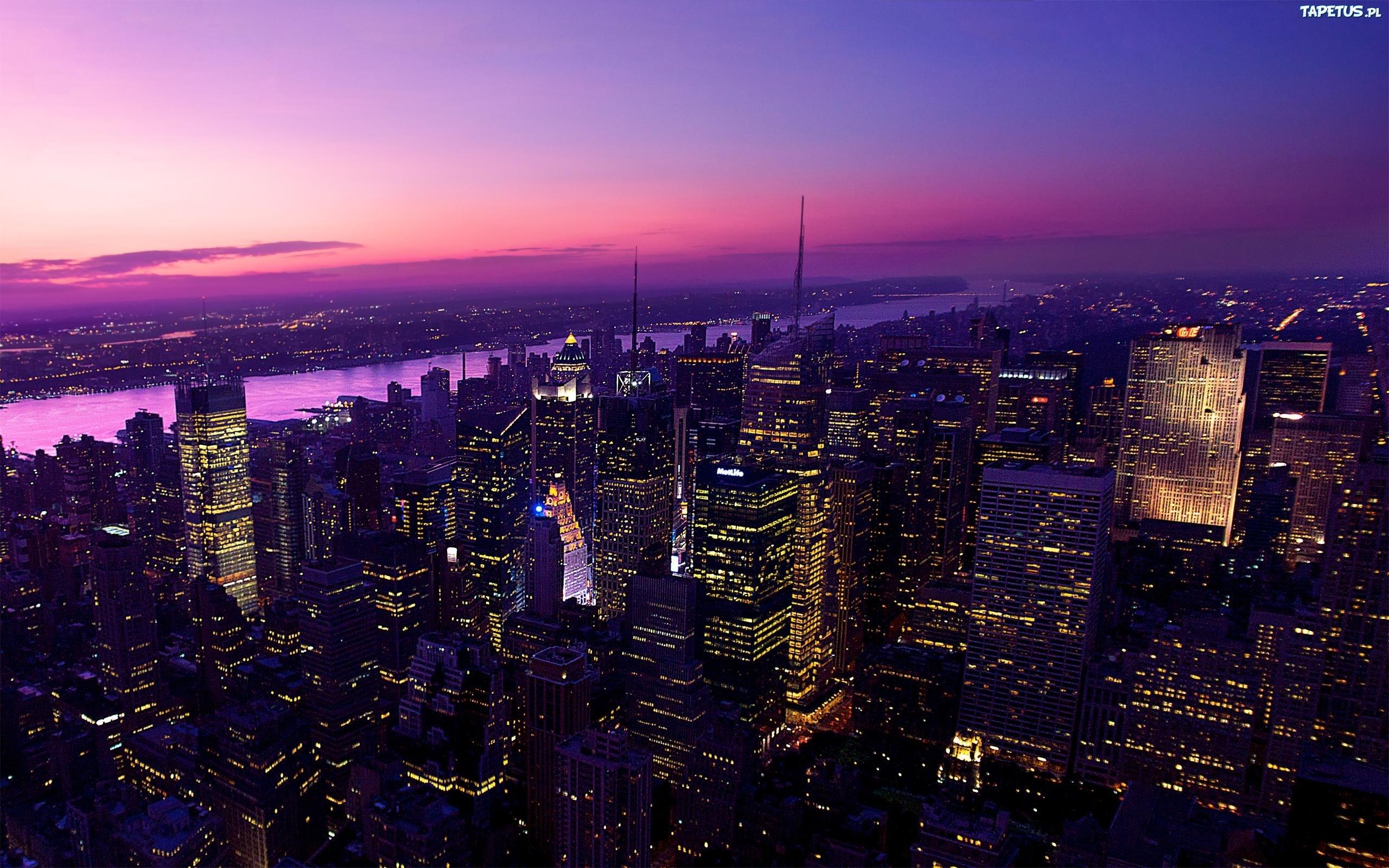 огни город море сумерки lights the city sea twilight  № 2659478  скачать