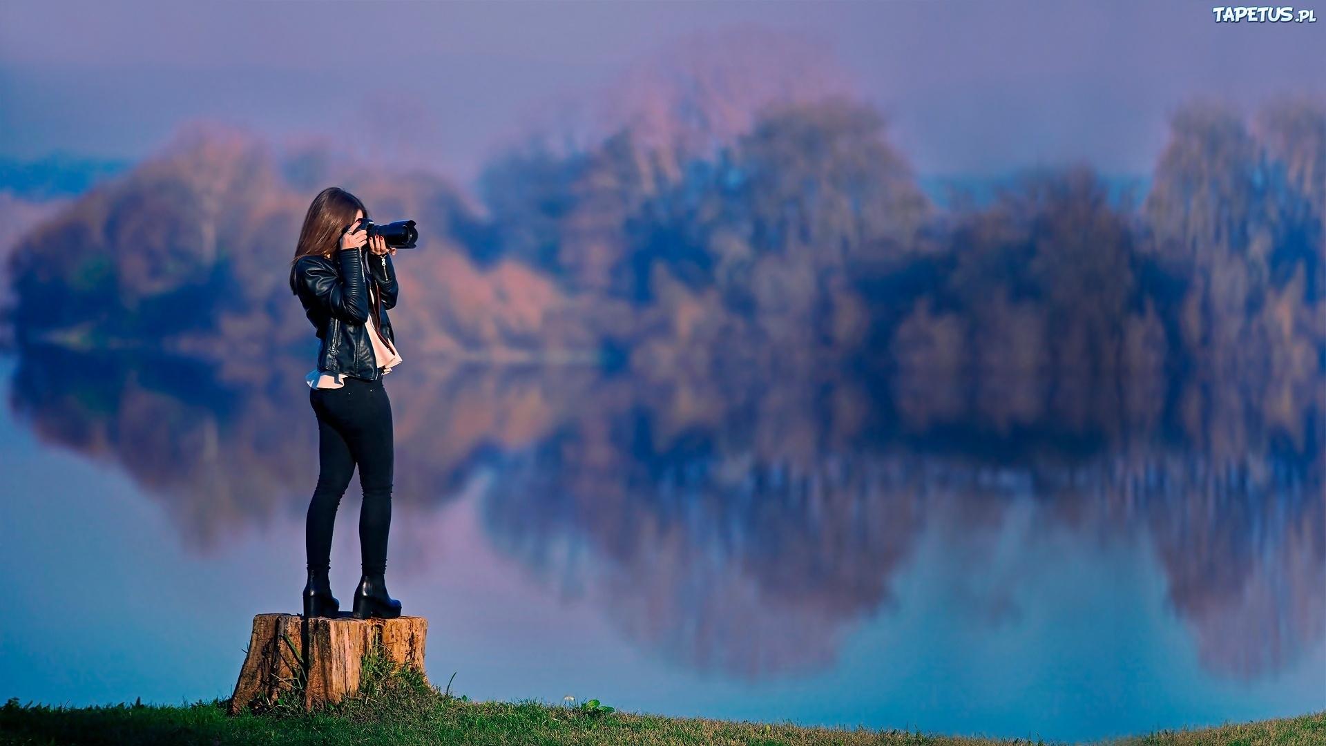Девушка фотограф  № 524895 загрузить