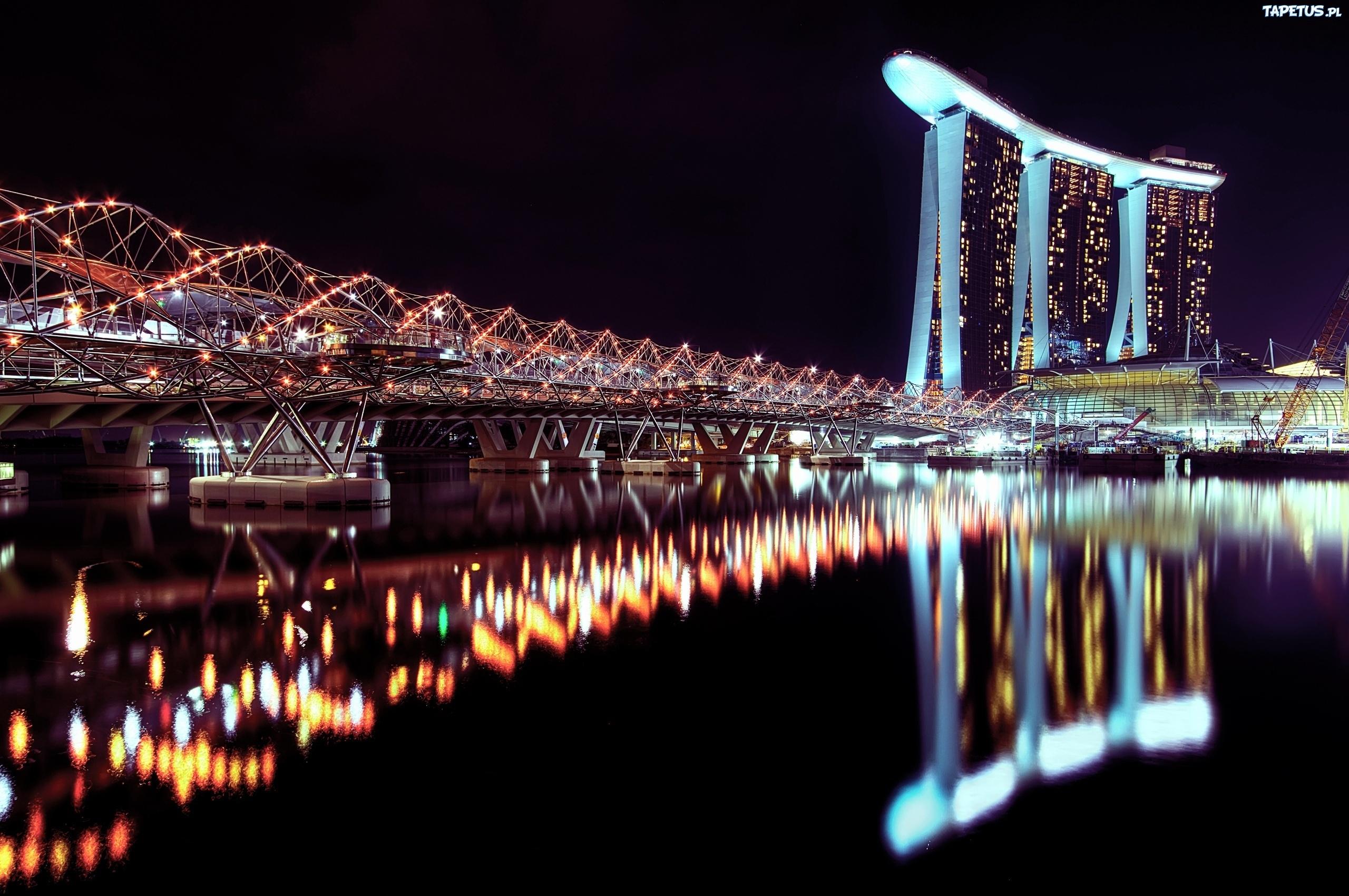 страны архитектура Сингапур ночь  № 1476102 загрузить