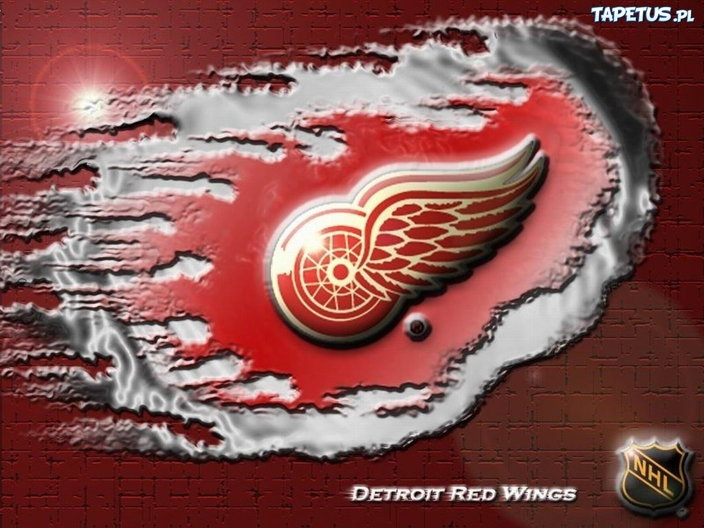 Detroit Red Wings Logo http://www.tapetus.pl/51400,logo-druzyny-nhl-detroit-red-wings.php
