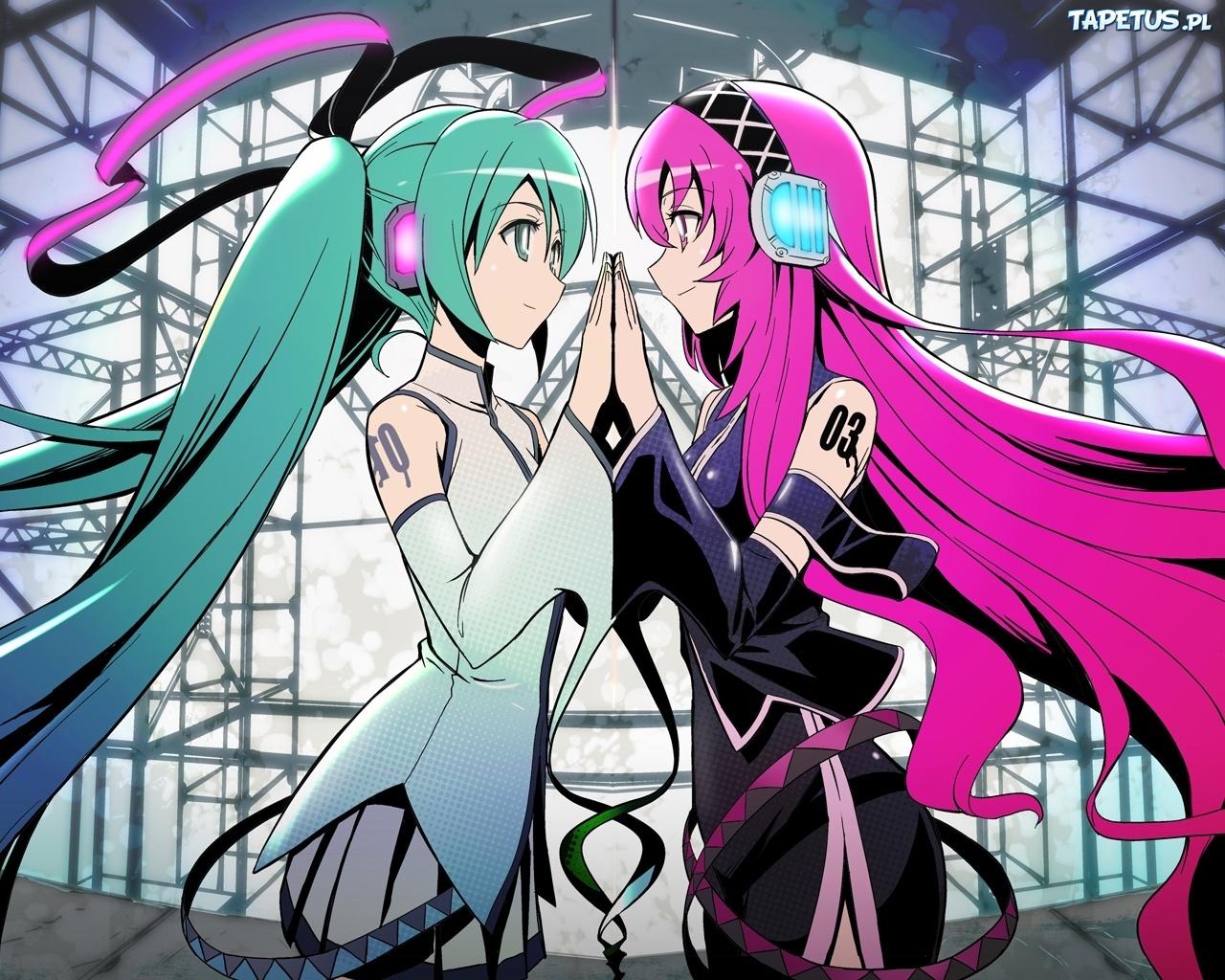 hatsune miku and megurine luka kiss wwwimgkidcom the