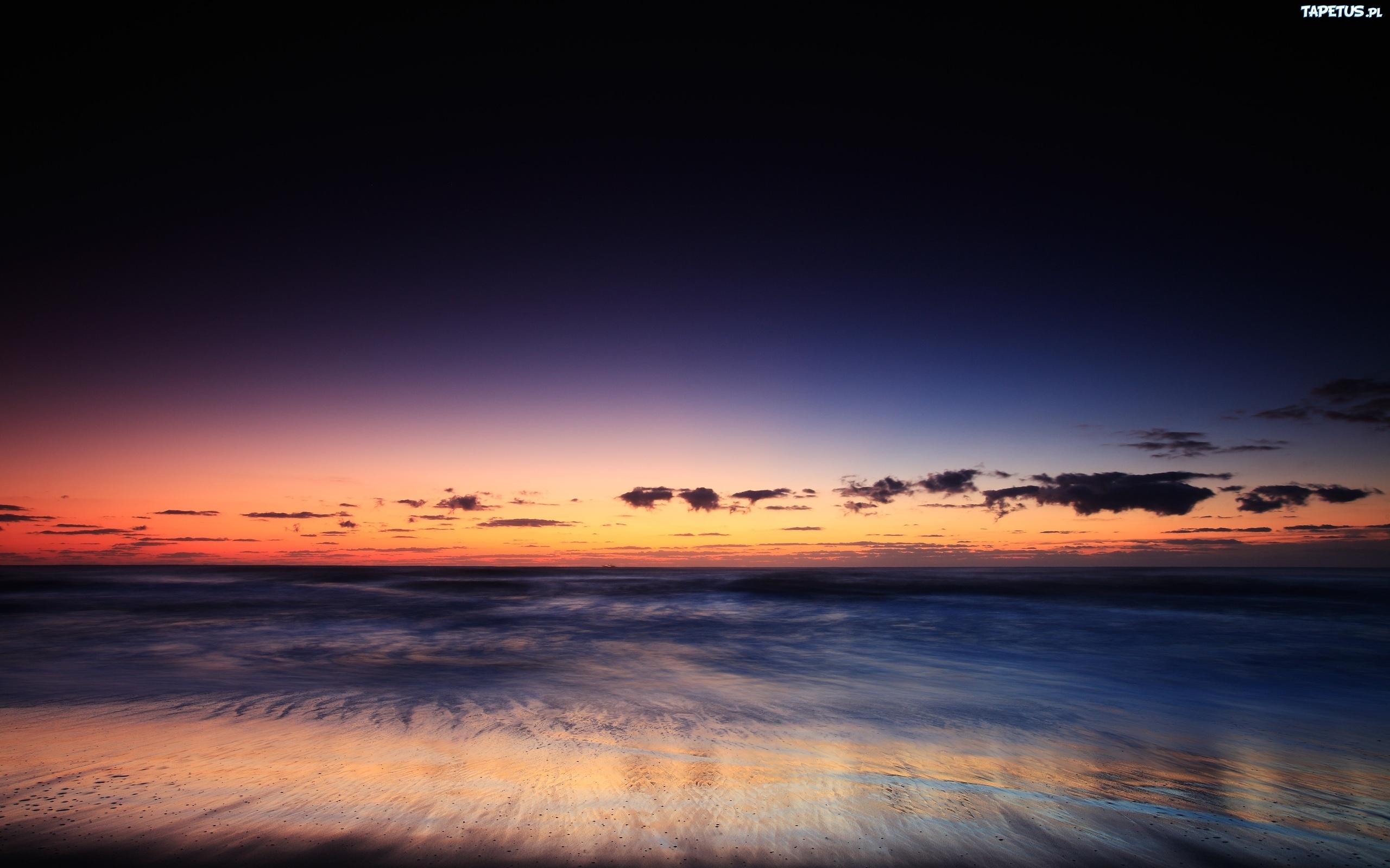 природа море горизонт небо закат  № 2493829 без смс
