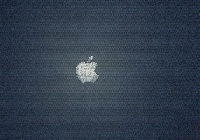 Apple, Logo, Szary, Metal