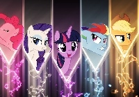 My Little Pony, Rarity, Twilight Sparkle, Fluttershy, Pinkie Pie, Applejack, Rainbow Dash