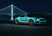 Ford Mustang EcoBoost, Tiffany Blue, 2015, Most, Golden Gate Bridge, San Francisco