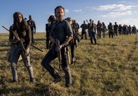 Serial, The Walking Dead, Żywe trupy, Rick Grimes - Andrew Lincoln, Michonne - Danai Gurira