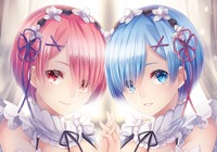 Manga Anime, Re:Zero − Starting Life in Another World, Siostry, Ram, Rem