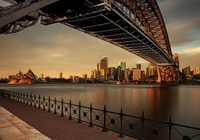 Australia, Sydney, Zatoka Port Jackson, Most Sydney Harbour Bridge, Sydney Opera House