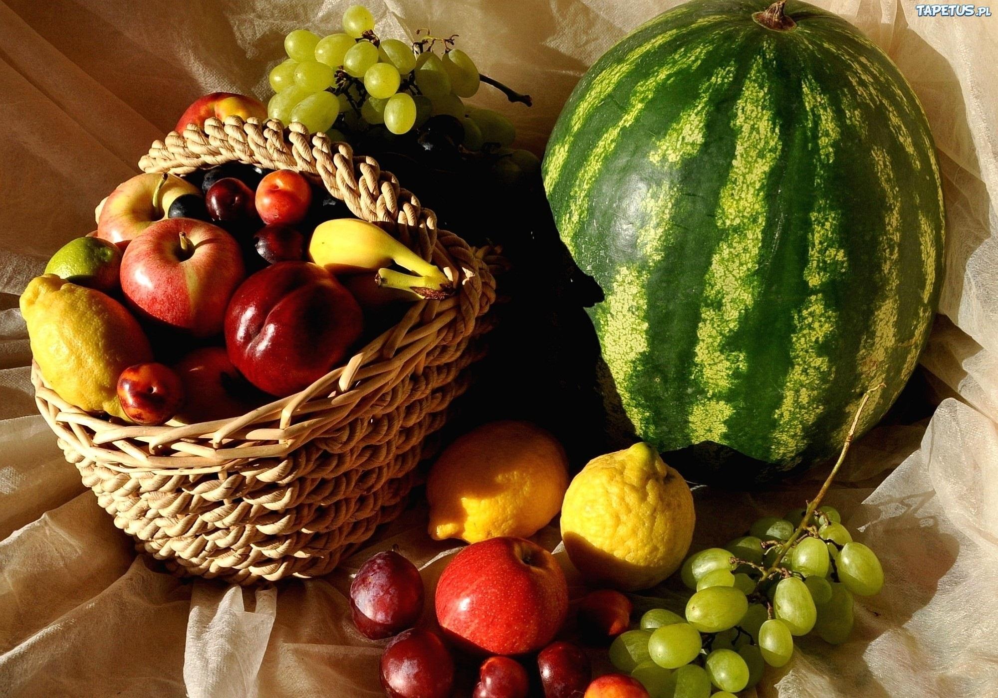 Еда фрукты корзина яблоки арбуз Food fruit basket apples watermelon без смс