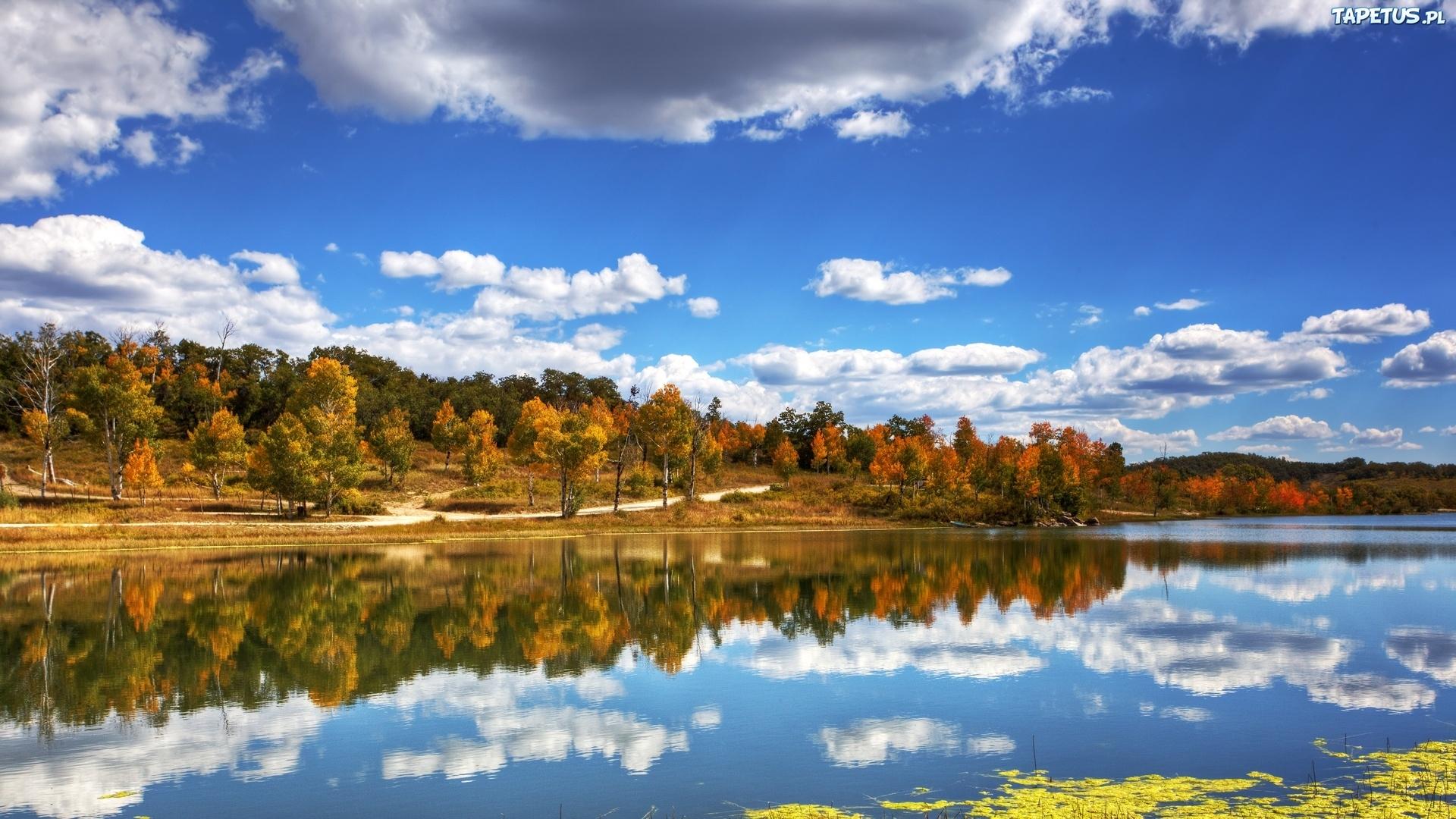 природа река отражение небо облака архитектура деревья в хорошем качестве