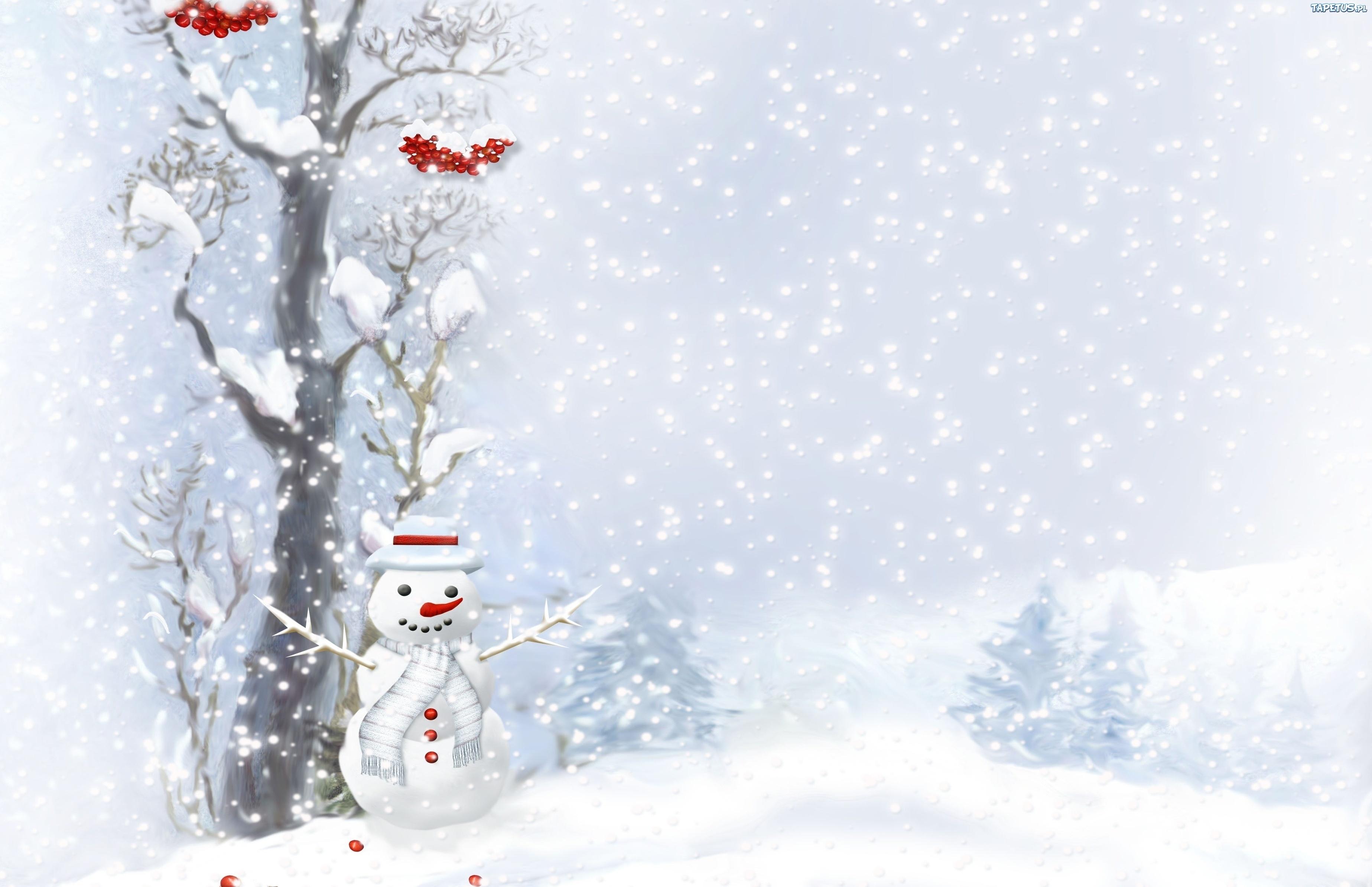 Снеговик фонарь снег горы Snowman lantern snow mountains бесплатно