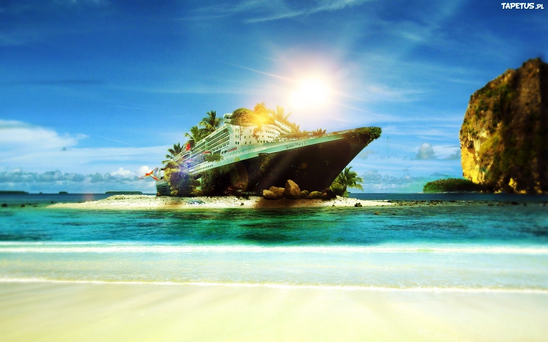 3840x2400 wallpaper ocean boat - photo #10