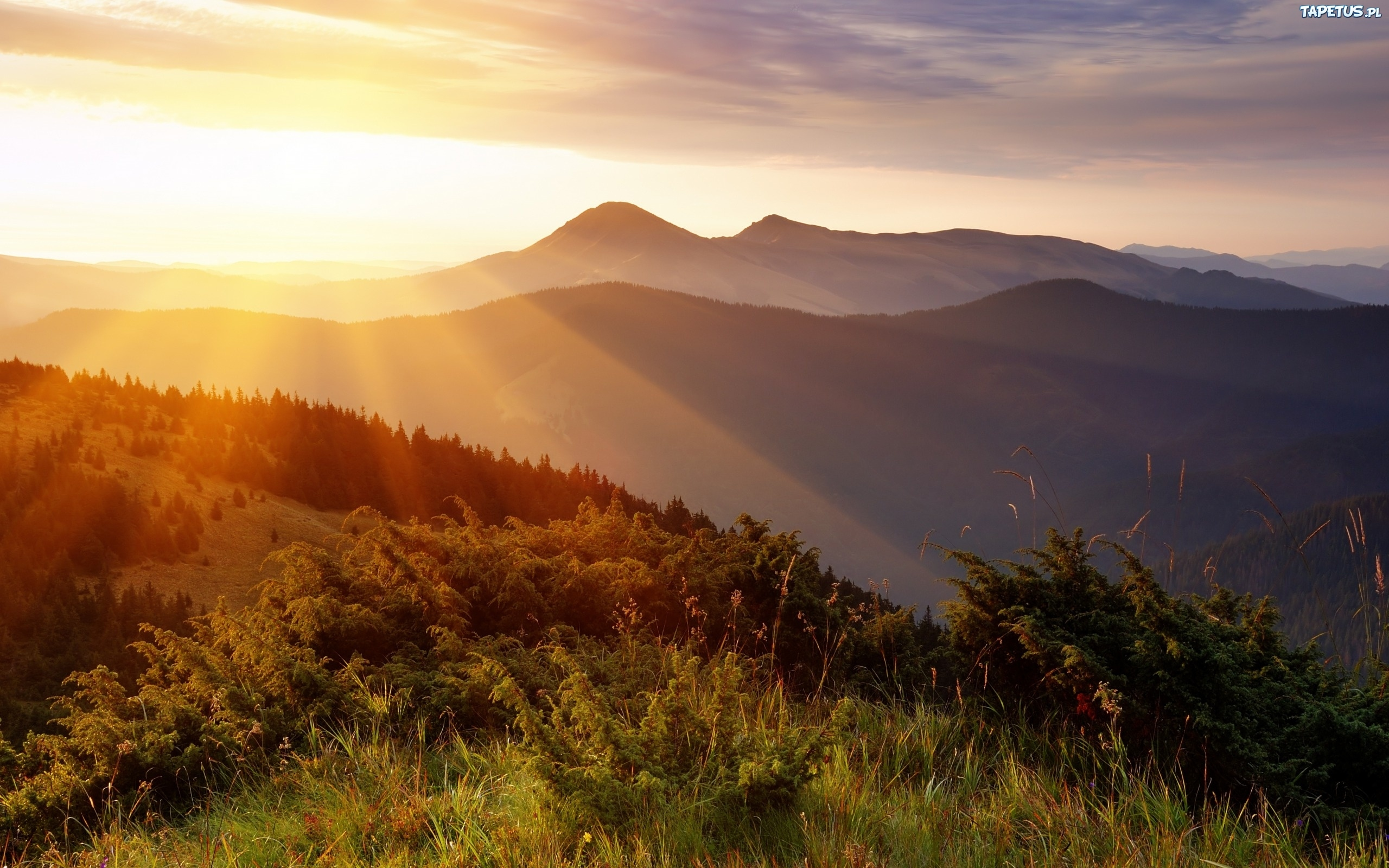 sunrise pictures in the mountains - HD1280×800
