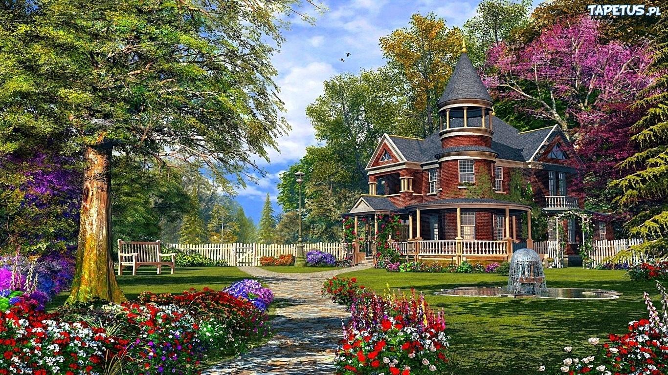 summer cottage wallpaper - photo #1