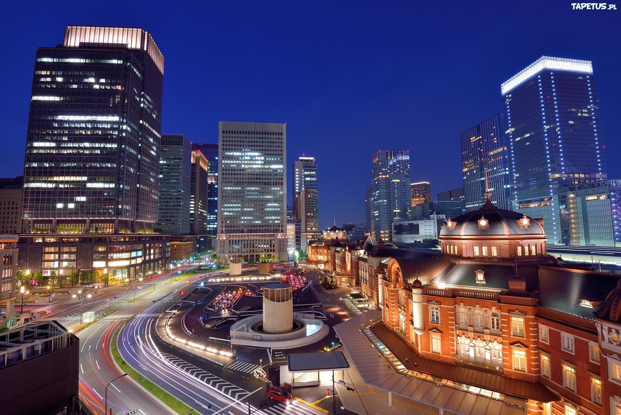 страны архитектура ночь Япония Токио country architecture night Japan Tokyo загрузить