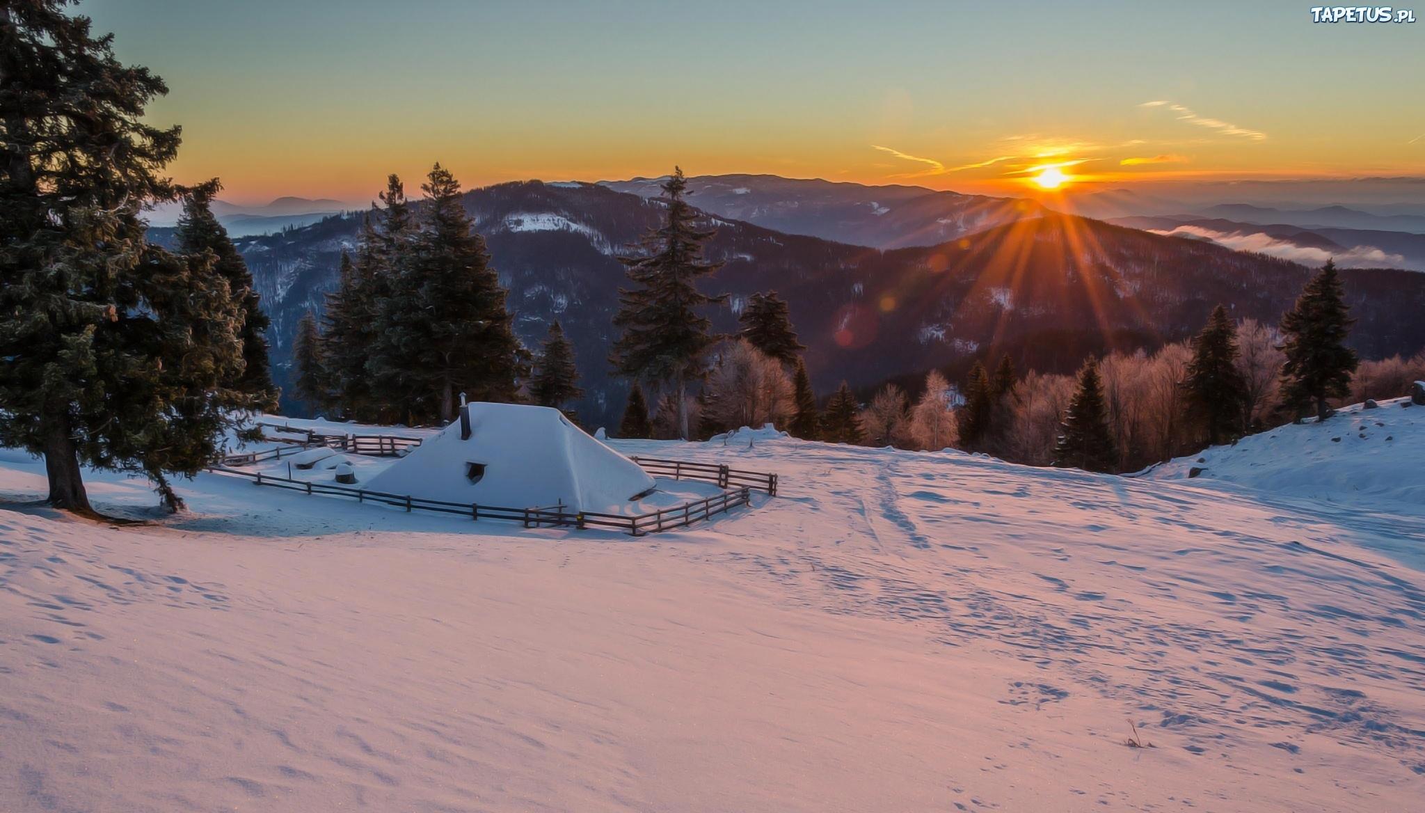 зима снег если солнце горы скачать