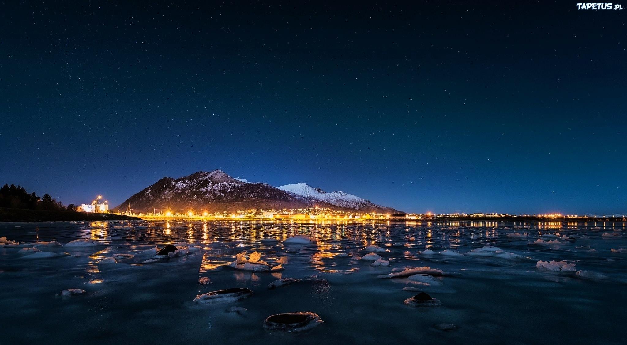 огни ночь город берег гора без смс