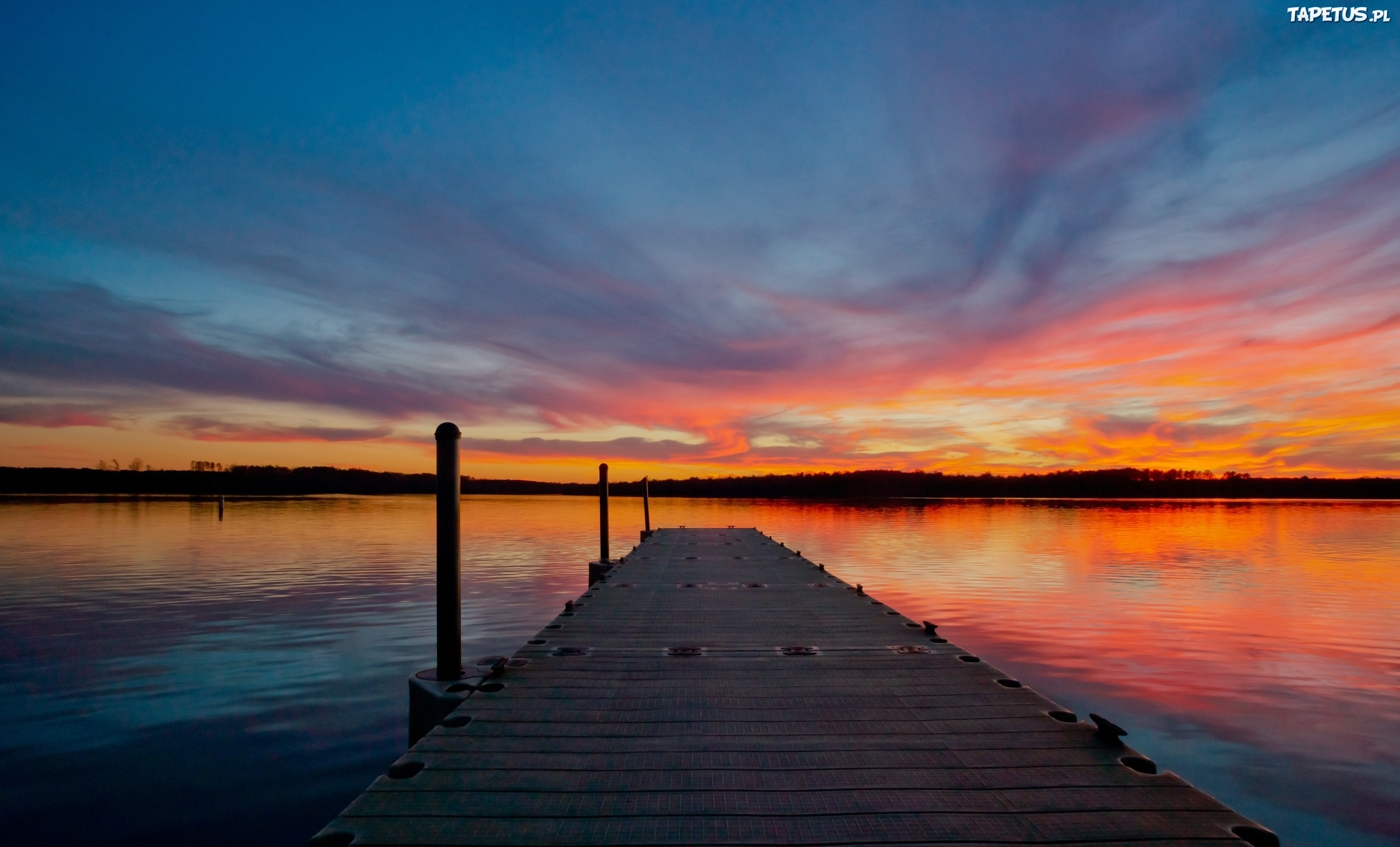 мост закат озеро небо без смс