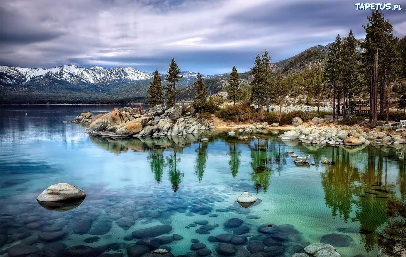 Połączyć się w południowym jeziorze Tahoe