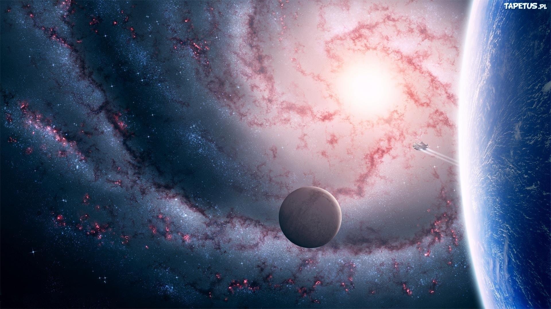 Обои планета спутник картинки на рабочий стол на тему Космос - скачать без смс