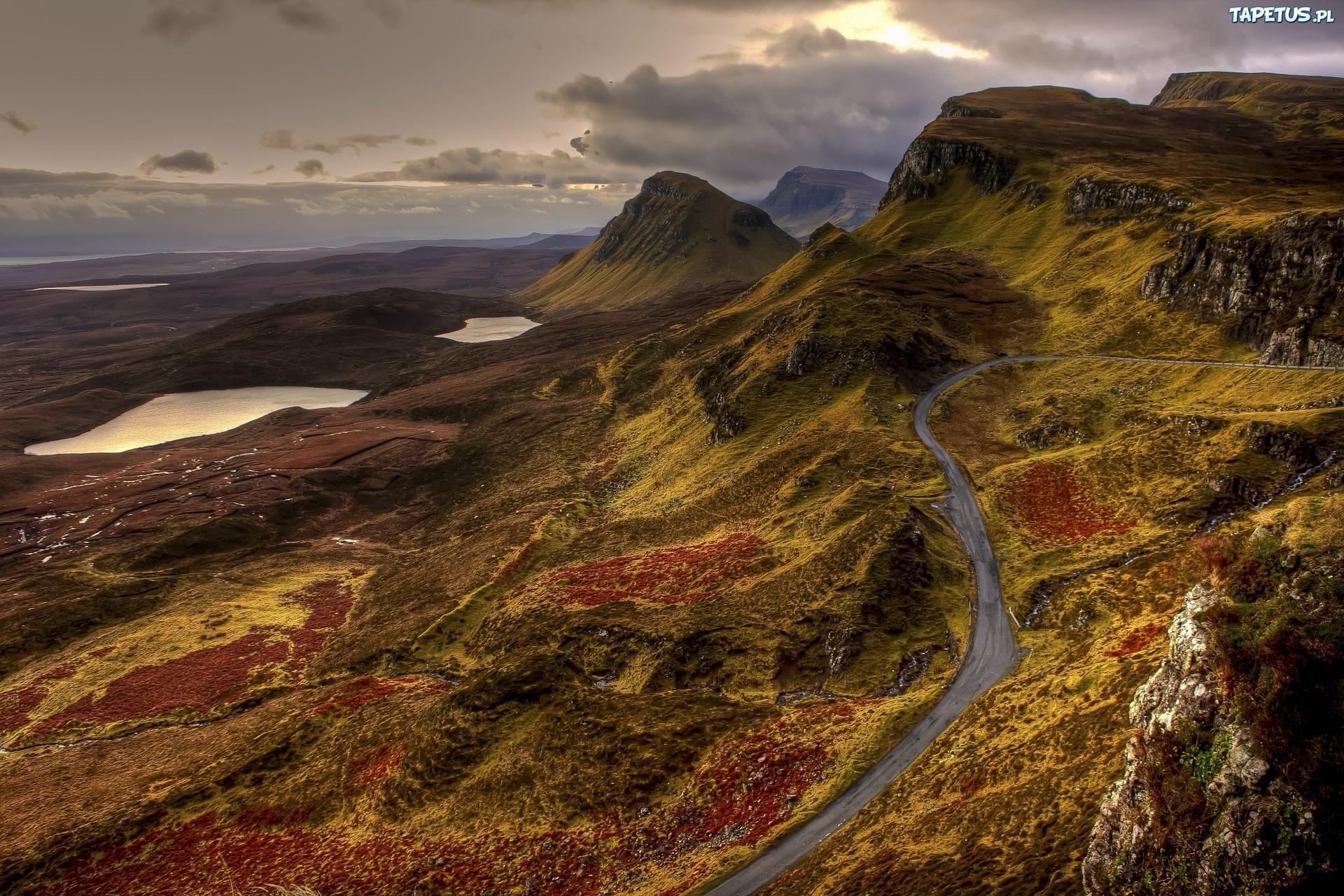 Szkocja, Wielka Brytania, Droga, Góry