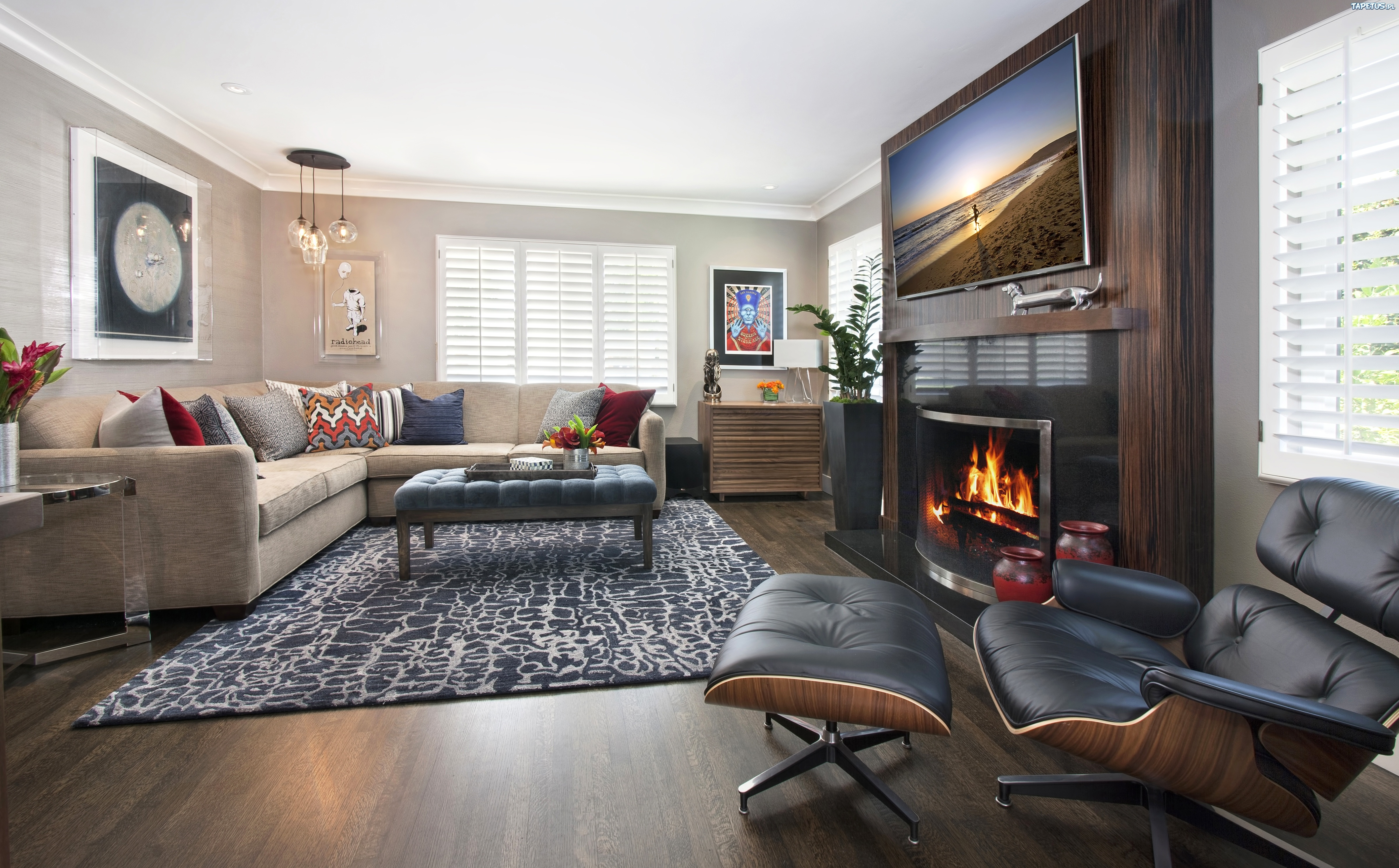 интерьер комната камин стол ковер interior bathroom fireplace table carpet скачать
