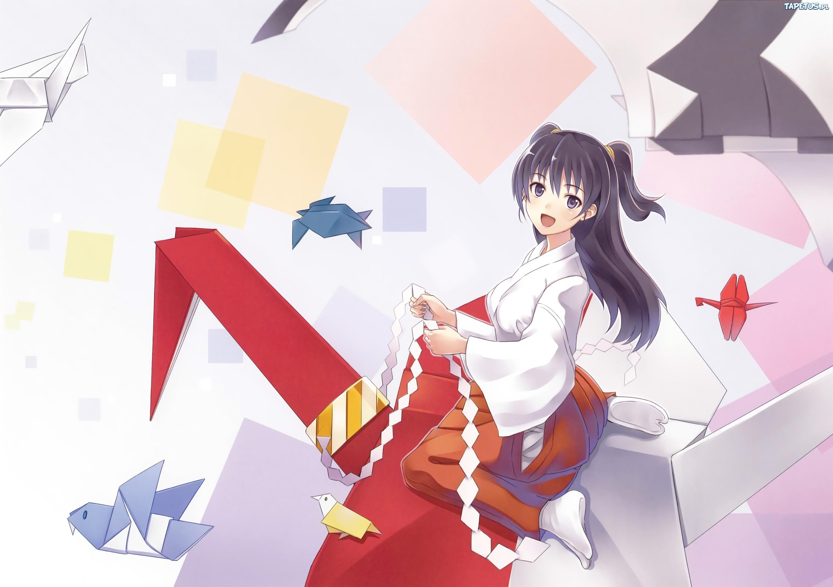 Dziewczyna Origami Anime