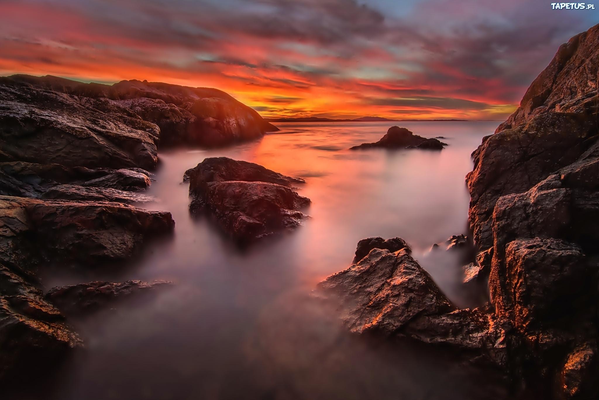 природа море скалы горизонт облака nature sea rock horizon clouds загрузить