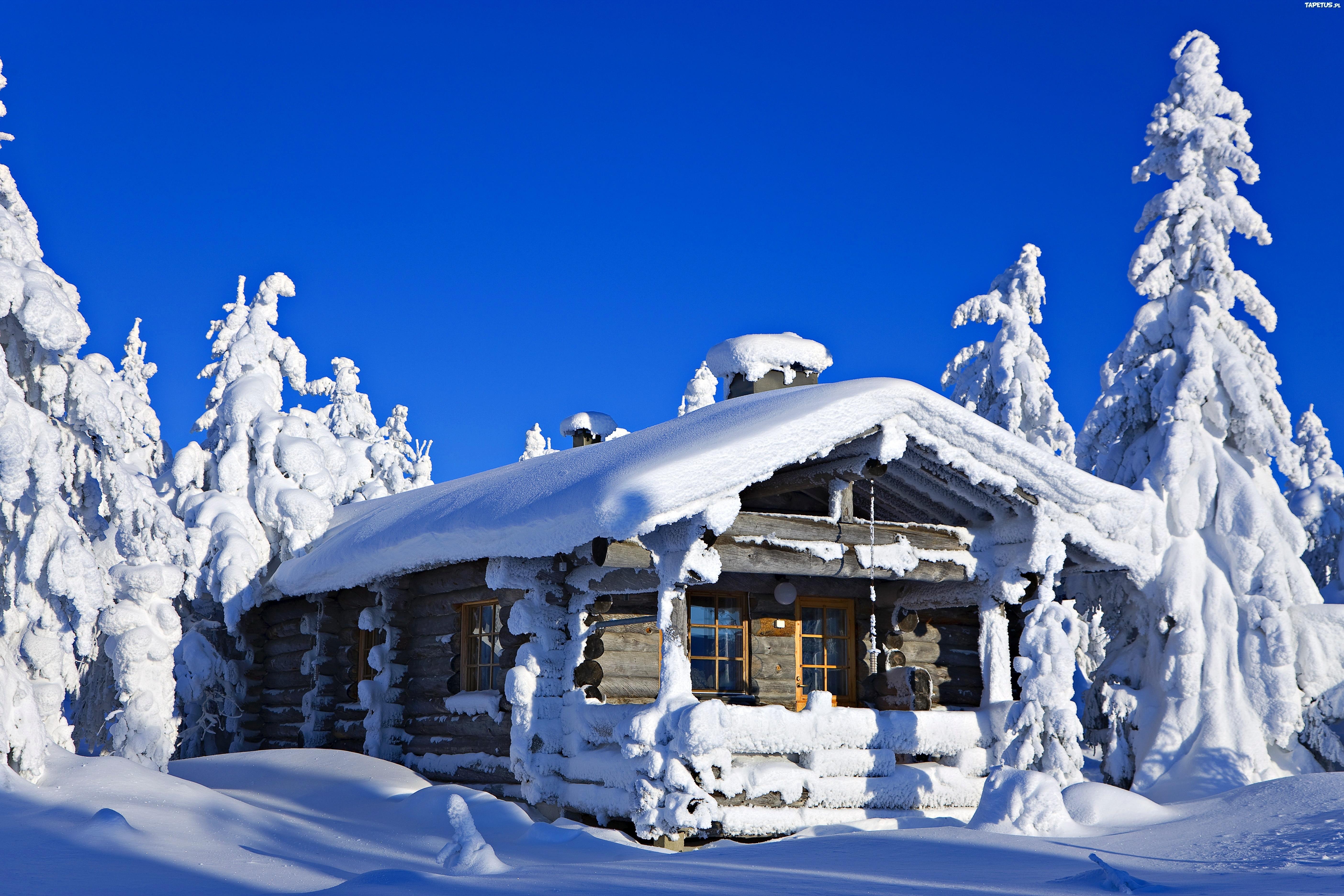 Заснеженный Финский домик скачать