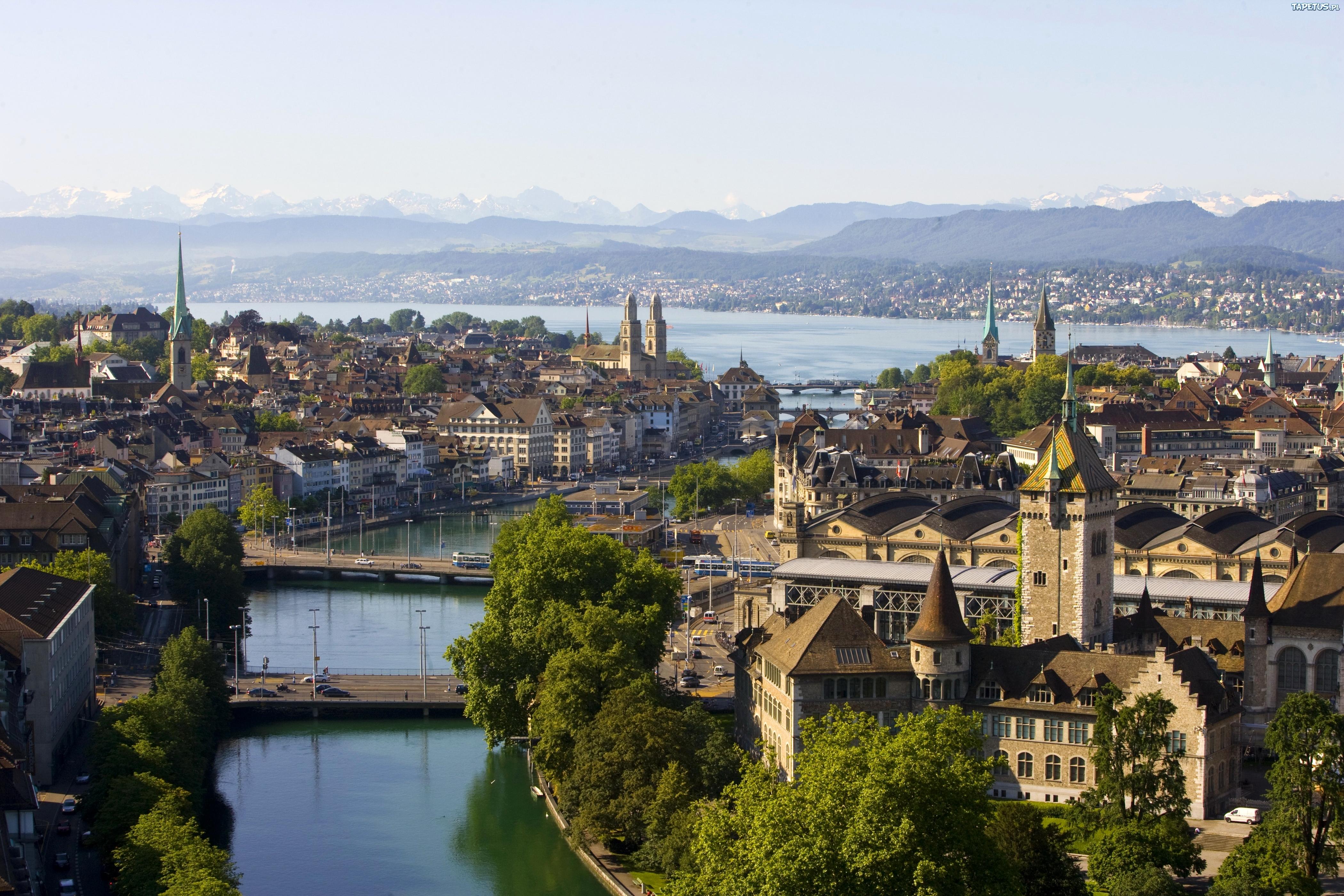 Zurych, Szwajcaria, Dom, Kanał, Rzeka