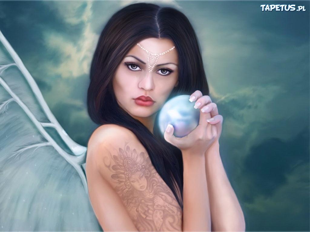 Kobieta Kula Tatuaż