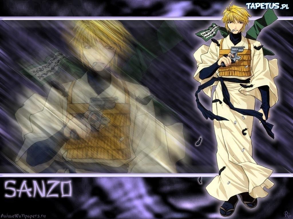 Saiyuki, sanzo, postać, pistolet