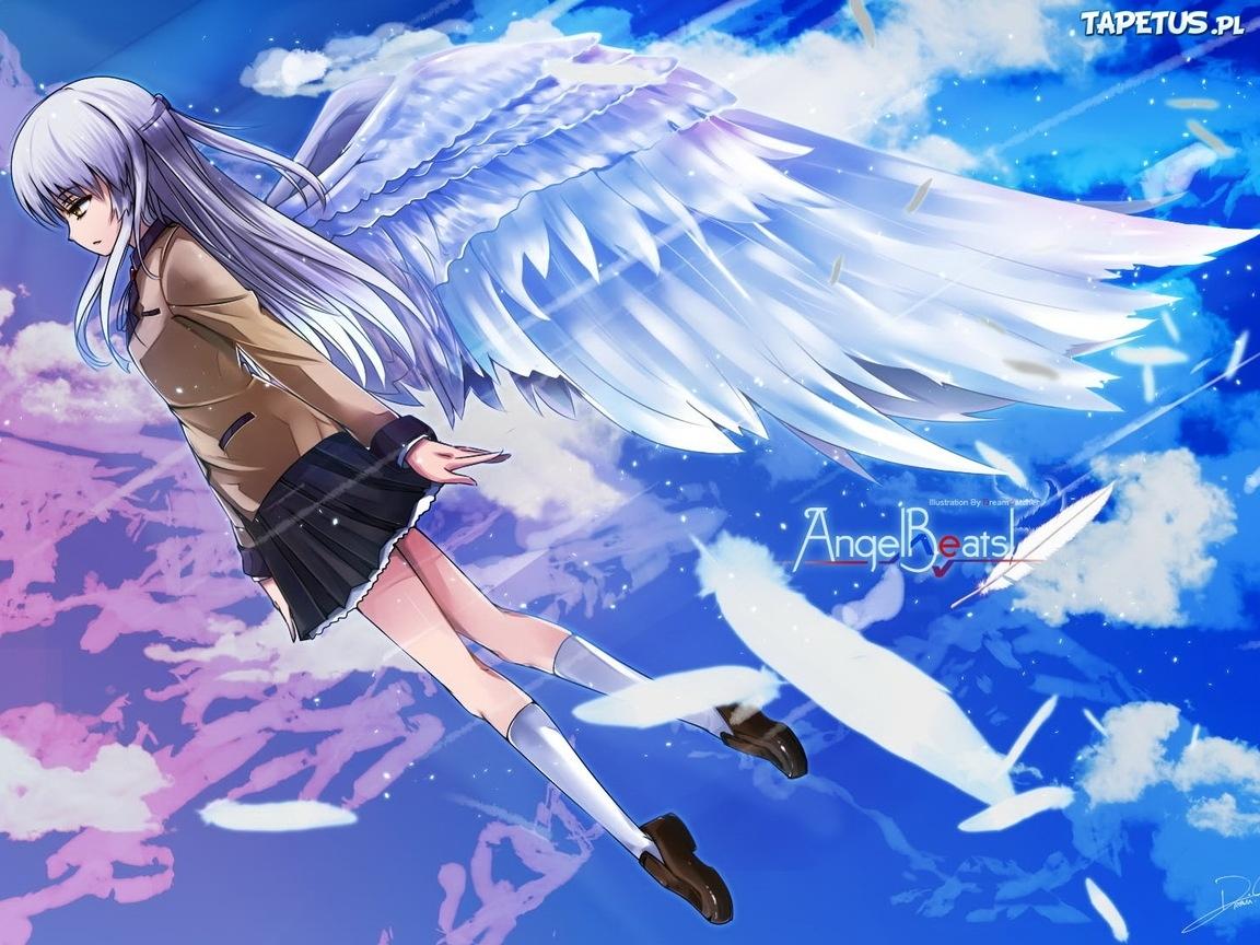 Angel Beats Tachibana Kanade Skrzydla